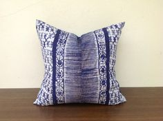 Vintage Textile Tribal Design Hmong Indigo by orientaltribe11, $60.00