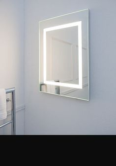 Halo Illuminated Bathroom Heated Mirror 63c