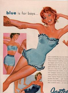 Such a cute bathing suit. Vintage Jantzen ad.