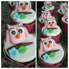 cupcake corujas. doçuras da manu