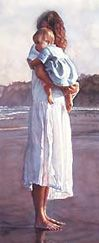 'In Mothers Arms' by Steve Hanks -NM artist
