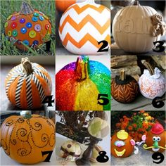 no carve #pumpkin decorating ideas