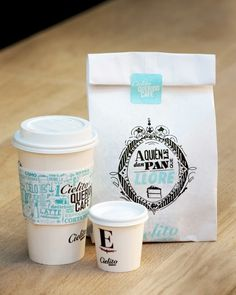 quirky and cute cafe packaging