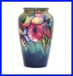 Walter Moorcroft Large Orchid Vase c. 1940's
