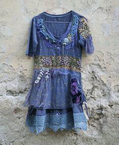 Mood indigo toque oriental túnica o vestido por FleurBonheur, $188.00