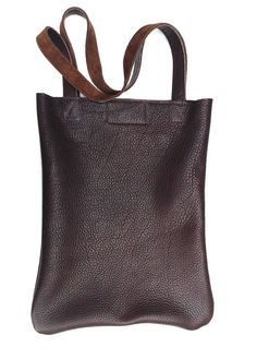 Brown leather tote bag carry all for any occasion