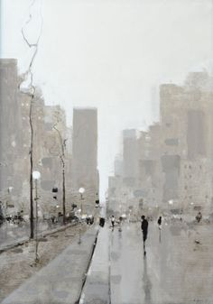 Geoffrey Johnson, City Study B Urban Landscape, Abstract Landscape, Abstract Art, Kunst Inspo, Art Inspo, City Painting, Art And Architecture, Watercolor Art, Cool Art
