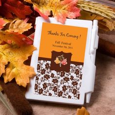 Personalized Notebook Favors - Fall