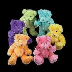 Multi-Colored Teddy Bears!