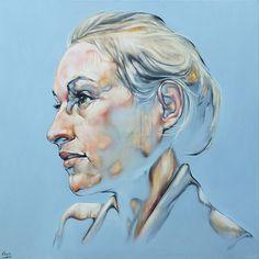 Félix Hemme, Anais, huile sur toile, 80X80, oeuvre unique