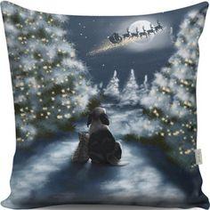 Vankúš Christmas View At Night, 43x43 cm