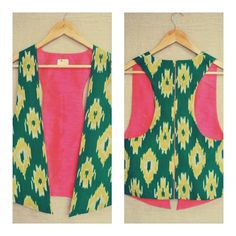 By #Itr -- ikat print vest
