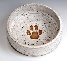 Image result for Pottery dog bowls