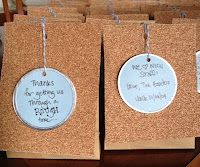 treat bag with gift tag & sandpaper decor -- for the people in your life who get you through ROUGH times.  get it?  rough?  sandpaper?  ha ha ; )