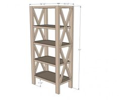 Ana White | Build a Rustic X Tall Bookshelf | Free and Easy DIY Project and Furniture Plans