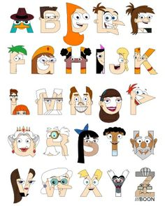 Phineas and Ferb Alphabet <3
