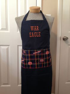 Hey, I found this really awesome Etsy listing at https://www.etsy.com/listing/199891409/auburn-tigers-apron-war-eagle-tailgate