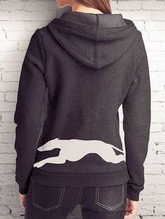 Running Greyhound hoodie by GreytPrints on Etsy