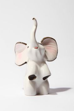 Ceramic Elephant Ring Holder - Urban Outfitters---- Idon't wear rings, but hey