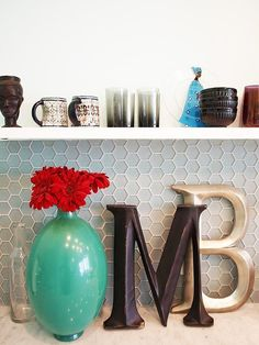 Back splash - Malene's Tropical Modern Queen Anne Townhome — House Tour | Apartment Therapy