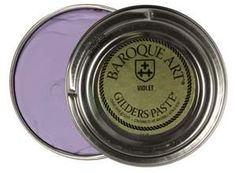 51127  Gilders Paste Violet, each  Violet Gilders Paste is a medium purple. Gilders Paste can be used to add non-fading color or a gilded finish to materials like our vintage brass or gold and silver plated charms, ceramics, wood, frosted glass, resin and more. It can be applied as-is to clean, dry, oil-free surfaces with a cloth, cotton swab, sponge, your finger... or thin it with paint thinner to create a paste, paint, stain or wash. Smooth surfaces should be slightly roughened with fine…