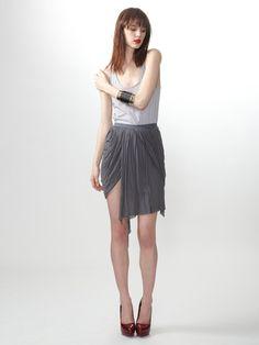 Rick Owens  Jersey Knit Drape Skirt