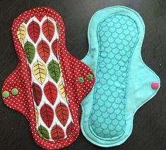 Custom Made Patterns and or detailed Embroidery to End Period Poverty 100/% Organic Cotton Cloth Menstrual Pads