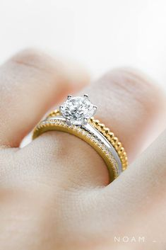 noam carver engagement rings bridal sets wedding ring sets yellow gold rings diamond rings noam carver Best Engagement Rings, Antique Engagement Rings, Yellow Gold Rings, Rose Gold, Architecture Tattoo, Bridal Sets, Or Rose, Diamond Rings, Wedding Rings