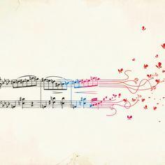Fluttering Notes Art Print