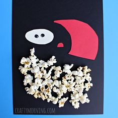 popcorn santa claus craft