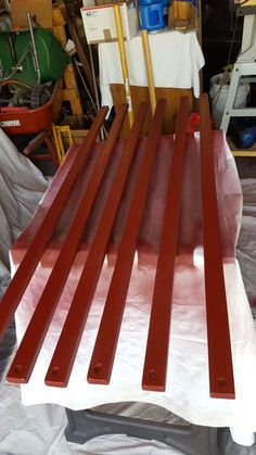 giving a sad worn out park bench new life, painted furniture, repurposing upcycling Outdoor Garden Bench, Outdoor Side Table, Garden Benches, Outdoor Benches, Outdoor Cushions, Outdoor Lounge, Outdoor Rooms, Chair Cushions, Spray Paint Furniture
