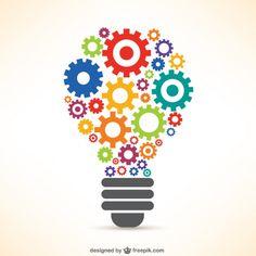Light bulb made of gears Free Vector Power Point Gratis, Cv Original, Branding Design, Logo Design, Photos Hd, Branding Services, Creating A Brand, Grafik Design, Graphic Design Inspiration