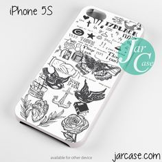 ONE DIRECTION 17black tattoo Phone case for iPhone 4/4s/5/5c/5s/6/6 plus
