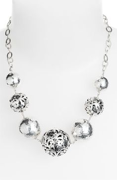 Lois Hill 'Ball & Chain' Graduated Bead Necklace available at #Nordstrom, $598