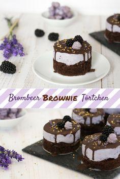 Ein saftiger, schokoladiger Brownie Boden mit einer fruchtigen Brombeere Frischkäse Creme - perfekt für heiße Spätsommer Tage.