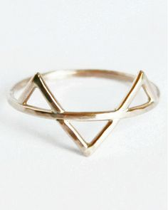 Gold Filled Three Spikes Ring