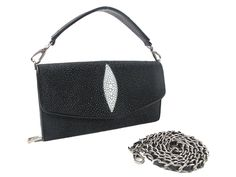 PELGIO Genuine Stingray Skin Leather Shoulder Cross Body Bag Purse ** Read more reviews of the product by visiting the link on the image.