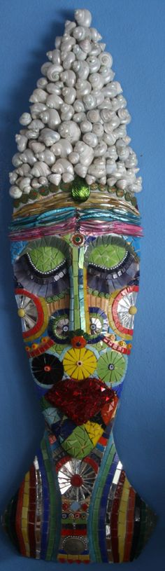Goddess of the Sea Mosaic Mask by lowlightcreations on Etsy, $325.00