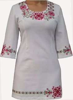 Вишиванка. Інтернет-магазин вишиванок: Вишиванки - ручна робота Embroidery On Clothes, Embroidered Clothes, Girl Fashion, Fashion Dresses, Embroidery Suits Design, Afghan Dresses, Mexican Dresses, Blouse Neck Designs, Painted Clothes