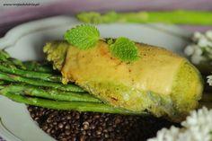 Kurczak w zielonej marynacie z grillowanymi szparagami i czarną belugą (2)