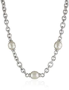Majorica 14 and 16mm Multi-Baroque Pearls on Metal Chain Necklace >>> You can get additional details at the image link.