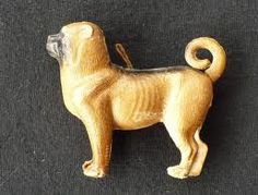 Antique Dresden Dog Christmas Ornament Germany