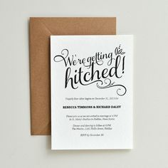 We Re Getting Hitched Script Cheeky Diy Printable Wedding Invitation Template