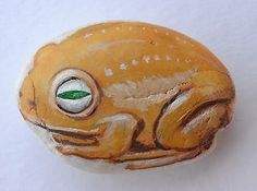 Handmade-Frog-Hand-Painted-on-Rock-Stone-House-Decorative-021