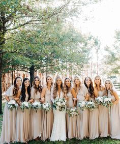 Show Me Your Mumu ~ Show Me The Ring Crisp Bridesmaid Dresses #mumuweddings #mumubridesmaids #bridesmaiddresses #neutralwedding