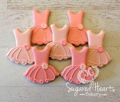 Ballerina Ballet Tutu Cookies - 1 Dozen By Sugared Hearts Bakery Ballerina Cookies, Ballerina Party, Ballerina Birthday Parties, Ballet Birthday Cakes, Edible Cookies, Iced Cookies, Royal Icing Cookies, Cupcake Cookies, Sugar Cookies