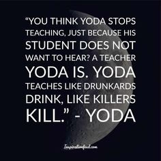 Yoda is one of the most well-known and beloved characters in the Star Wars franchise. Check out these wise Yoda quotes. Most Powerful Jedi, Famous Vampires, Yoda Quotes, Beloved Movie, Running Jokes, Greed, Awakening, Einstein, Best Quotes
