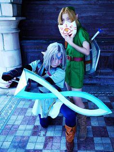 Link and Oni Link - Zelda Majora's Mask cosplays by @crona213 and @gyakuyoga | #MM3D