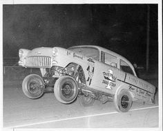 """1955 Chevy Gasser! Lil' General """"Deer Park Drag Strip"""" Looks Like An Old Pic?"""