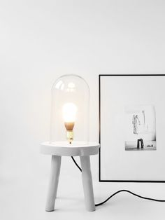 DIY-Lamp-Stool-with-Dome-Project